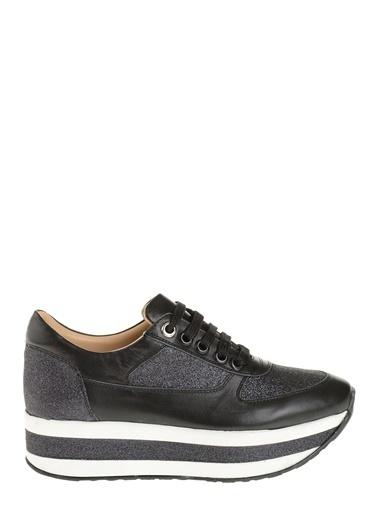 D by Divarese % 100 Deri Sneakers  Siyah